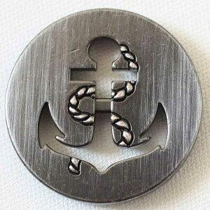 ハンドメイド(手作り、手芸、釦付け替え)に メタルボタン(DM2196F-SBN)23mm