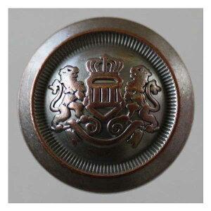 高級メタルボタン(DM2203F-AWP)18mm ハンドメイド(手作り、手芸、釦付け替え)に