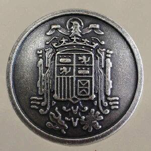 高級メタルボタン(FM69-S)15mm ハンドメイド(手作り、手芸、釦付け替え)に