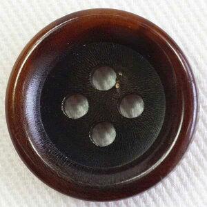 本水牛ボタン(HB190-RB)23mm 手作り、手芸、釦付け替え)に