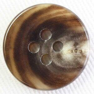 本水牛ボタン(HB220-MB)15mm 手作り、手芸、釦付け替え)に