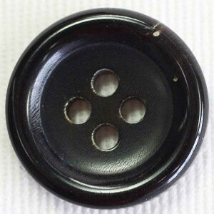 本水牛ボタン(HB230-B)25mm 手作り、手芸、釦付け替え)に