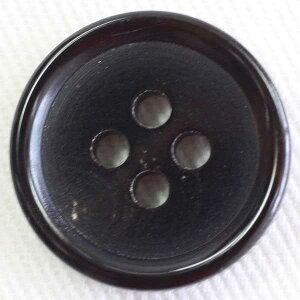 本水牛ボタン(HB240-B)20mm 手作り、手芸、釦付け替え)に