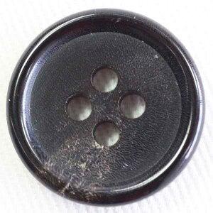 本水牛ボタン(HB240-DB)25mm 手作り、手芸、釦付け替え)に
