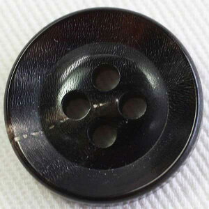本水牛ボタン(HB250-DB)30mm 手作り、手芸、釦付け替え)に