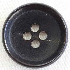 本水牛ボタン(HBK7200-DB)18mm 手作り、手芸、釦付け替え)に