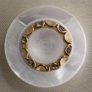 Jewel IV (IV082-G01 18mm)6個セット 宝石のような輝きのボタン