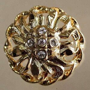 Jewel IV (IV168-G 24mm)6個セット 宝石のような輝きのボタン