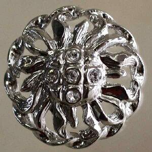 Jewel IV (IV168-N 21mm)6個セット 宝石のような輝きのボタン