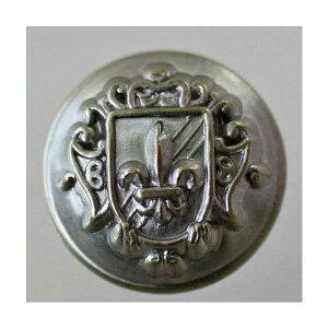 高級メタルボタン(MA2266F-NBR)21mm ハンドメイド(手作り、手芸、釦付け替え)に