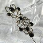 黒とグレーのダイヤをいっぱい飾ってかわいく綺麗♪【AXP5690】