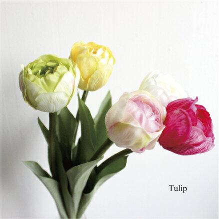 チューリップ 造花 インテリア 未触媒 器なし 4086