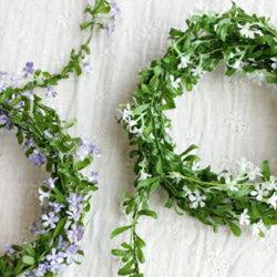 ミニフラワーロープ造花 インテリア 未触媒 フェイクグリーン