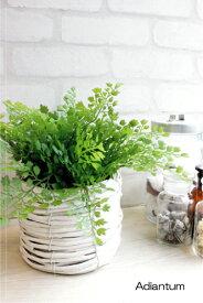 アジアンタムホワイトバスケット 造花 フェイクグリーン CT触媒 造花 観葉植物 ミニ インテリア