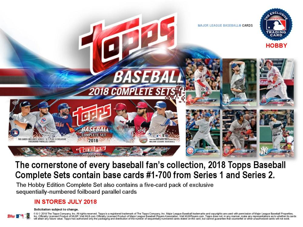 ◆予約◆ MLB 2018 TOPPS BASEBALL COMPLETE SET HOBBY[ボックス]