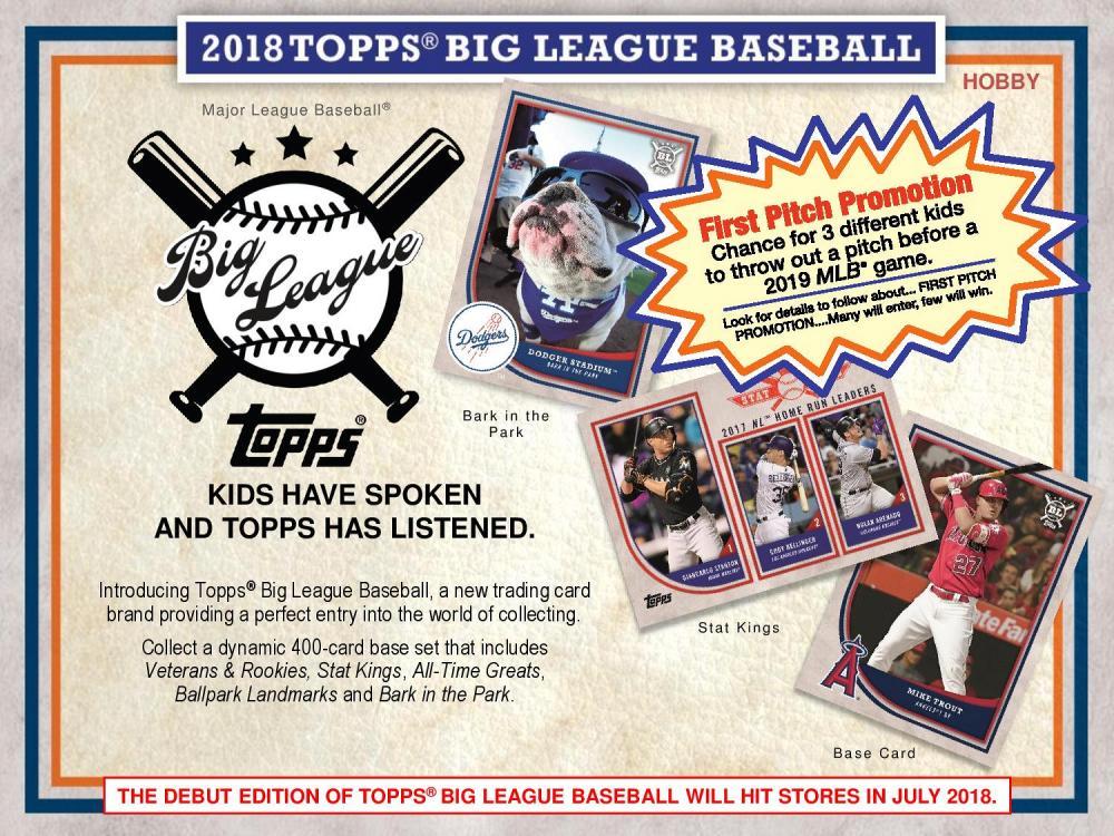 MLB 2018 TOPPS BIG LEAGUE BASEBALL[ボックス]