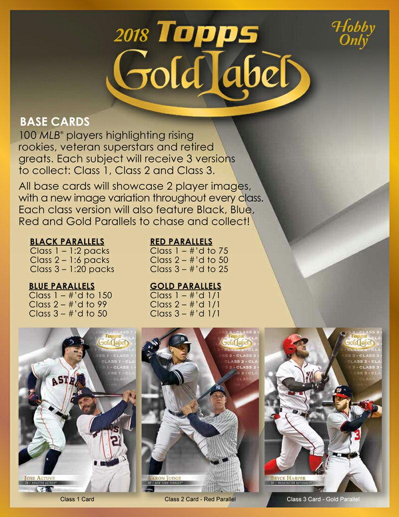 MLB 2018 TOPPS GOLD LABEL BASEBALL[ボックス]