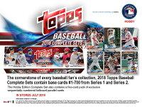 MLB2018TOPPSBASEBALLCOMPLETESETHOBBY[ボックス]