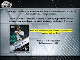 MLB 2020 TOPPS CHROME BLACK BASEBALL[ボックス]