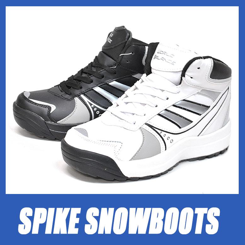 防寒 スノーブーツ スパイク メンズ 滑りにくい スノトレ 雪道に強い冬靴 紳士靴 雪 冬 【RCP】