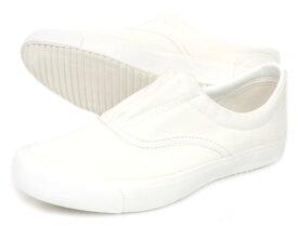 レディース キャンバススニーカー白 スリッポン スニーカー 紐なしムーンスター ベンチャーカックスホワイト 上靴 上履き 布靴【RCP】