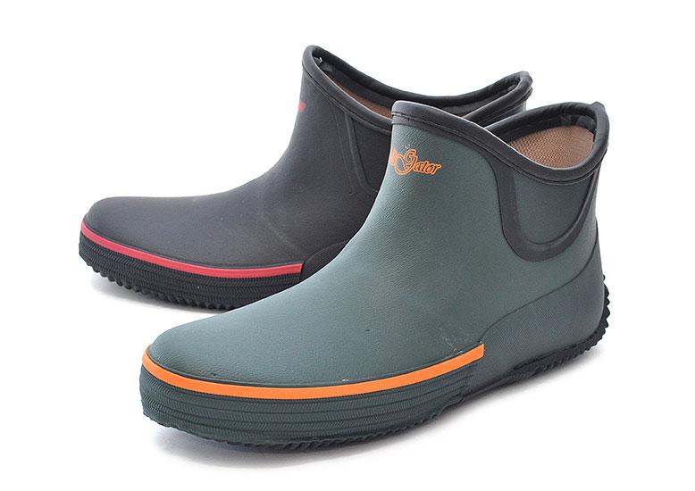 オカモト レインブーツ メンズ レディース 短い 長靴 ショート ゴム長靴 作業長靴 ガーデニングブーツ ワークブーツ ラバーブーツ ALLIGATOR 124 雨靴 【RCP】