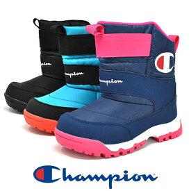 ジュニア 防水 スノーブーツ 雪 冬靴 Champion チャンピオン JSC014W ムーンスター ウィンターブーツ 男の子 女の子 暖かい 防寒 スノーシューズ