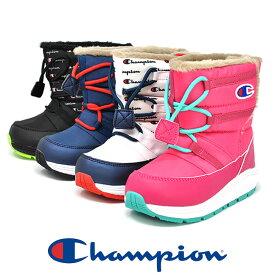 キッズ 防水 スノーブーツ 雪 冬靴 Champion チャンピオン KSC013W ムーンスター ウィンターブーツ 男の子 女の子 暖かい 防寒 スノーシューズ