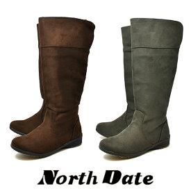 防水 防寒 スノーブーツ レディース 雪 ノースデイト 7608 3E シューズ 冬道 ピンスパイク NORTHDATE 北海道 ダテハキ 婦人靴 ロングブーツ