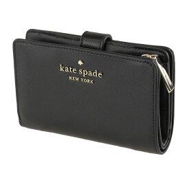 ケイトスペード 財布 二つ折り KATE SPADE wlr00128 001 ブラック系 財布・小物 レディース