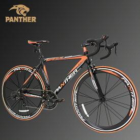 PANTHER (パンサー)ロードバイク全5色/3サイズ選択可シマノ14段変速 STIデュアルコントロール超軽量異型アルミフレーム700C×23C 適応身長160cm以上前後クイックリリース搭載 ドロップハンドルコスパ最強モデル 通勤通学新生活入学 就職メーカー保証1年(色Black/Red)