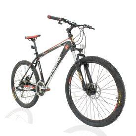 オフロードマウンテンバイクMTB 26inch×1.95 シマノshimano 21段変速 ST-EF51 シフトブレーキ兼用レバー(色Black/Red)