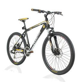 オフロードマウンテンバイクMTB 26inch×1.95 シマノshimano 21段変速 ST-EF51 シフトブレーキ兼用レバー(色Black/Yellow)