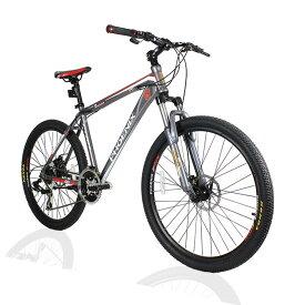 オフロードマウンテンバイクMTB 26inch×1.95 シマノshimano 21段変速 ST-EF51 シフトブレーキ兼用レバー(色Gray/Red)
