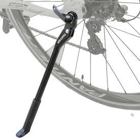 自転車 軽量キックスタンド サイドスタンド 24インチ〜700Cに適合 マウンテンバイク ロードバイク クロスバイク クイックリリース仕様全般対応可能(色BLACK)
