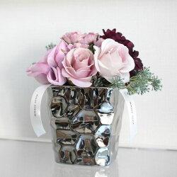 【MIRAGE-STYLE】【サイズM】シルバーcolorモダンシックなフラワーベース/花器/花瓶和モダンモダンシックMONOTONE白黒ブラックモダン北欧