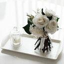 【プリザーブドフラワー】【ホワイトローズ】 プリザーブドフラワー バラ 薔薇 ホワイト 白 MODERNインテリア アーティフィシャルフラ…