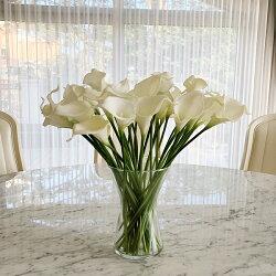 シンプルなXフォルムフラワーベース/花器/花瓶/おしゃれ/オシャレ/プレゼント/贈り物【クリア】【MIRAGE-STYLE】vaserenew