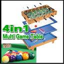 4種類のゲームが楽しめるマルチゲームテーブル★ビリヤード/テーブルホッケー/テーブルサッカー/卓球/チェス/シャッフ…