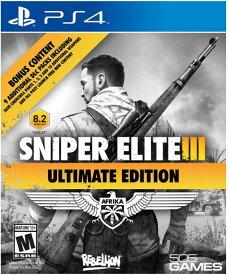 PS4 Sniper Elite III Ultimate Edition スナイパーエリート 3 アルティメットエディション 輸入版 北米