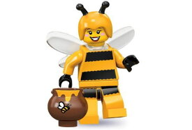 レゴ 71001 ミニフィギュア シリーズ10 蜂の着ぐるみの少女 (Bumblebee Girl-7) - ミニフィグ (1z264)