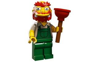 レゴ 71009 ミニフィギュア シンプソンズシリーズ2 グラウンドキーパー・ウィリー(Groundskeeper Willie13) - ミニフィグ (1z361)