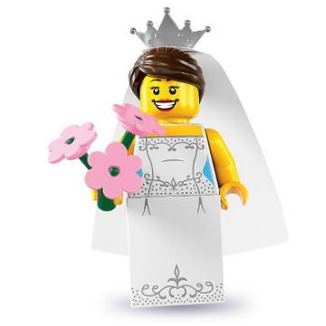 レゴ 8831 ミニフィギュア シリーズ7 花嫁 (Bride) - ミニフィグ (1z201)