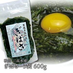 ぎばさ 200g×3袋 男鹿半島三高水産のギバサ/アカモク/あかもく/ギバサ
