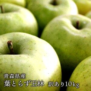 送料無料 青森県産 葉とらず王林 ご家庭用10kg (約28〜40個)人気の訳ありリンゴ [※産地直送・同梱不可]