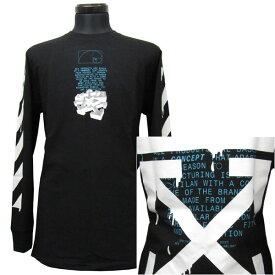 オフホワイト OFF WHITE ロングTシャツ ロンT メンズ(25004)