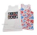 新製品《メール便等選択OK》《☆ウルトラマンヒーローズ》フライス袖なし:ランニングシャツ2枚組