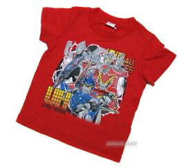 《パケット便選択OK》ウルトラヒーロー★半袖Tシャツ【地球平和:レッド】