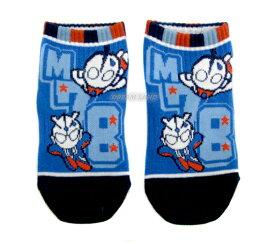 M78ウルトラマンのびのびソックス★靴下【スニーカータイプ★M78】(ブルー:ロゴ青)