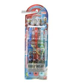 《人気》おなまえシール付きウルトラヒーロー歯ブラシ3本組★日本製